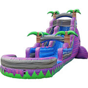 22' Purple Tropics Water Slide